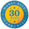 Badge of money back guarantee